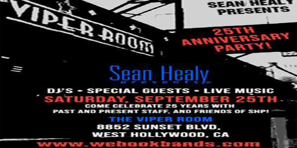 Sean Healy Presents 25th Anniversary Party
